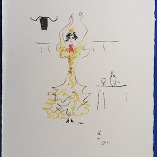 Jean COCTEAU - Carmen, Lithographie