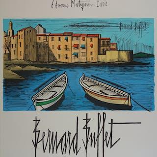 Bernard BUFFET - Saint-Tropez , Lithographie originale signée