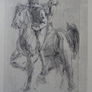 Auguste RODIN (d'après) - Dante et Pégase, 1897, Gravure