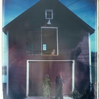 William WEGMAN -  Farm Portrait, 1990, Polaroid signé