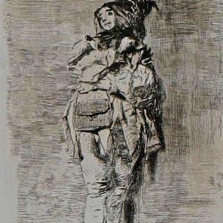 Mosè BIANCHI - Clown, 1897, Gravure et pointe sèche