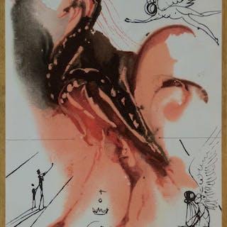 Salvador DALI (d'après) - Création de l'ange, Composition polychromatique