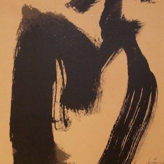Antoni TAPIES - M.ojos y cruz, 1999, Lithographie numérotée au crayon