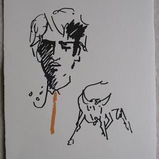 Jean COCTEAU : Toréador élégant - Lithographie, 1961