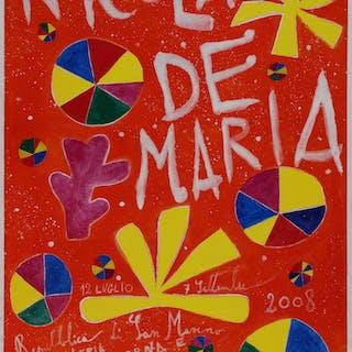 Nicola DE MARIA - Affiche en couleurs signée, 2008