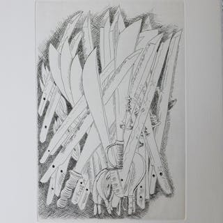 Fernandez ARMAN - Les Sabres, gravure