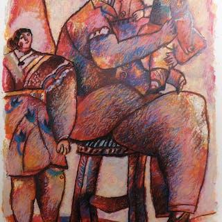 Théo TOBIASSE - Enfants venus du palais de la mémoire, Lithographie