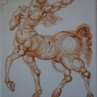 Salvador DALI (d'après) : Le Centaure - Sérigraphie signée - 490exp