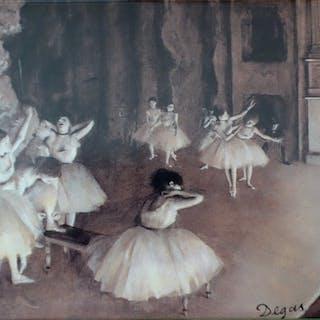 Edgar DEGAS (d'après) : Répétition d'un ballet sur la scène - Sérigraphie