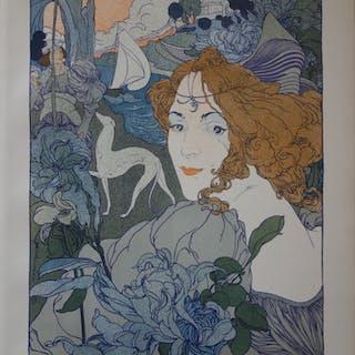 Georges de Feure - Retour, Lithographie originale  signée (1897)