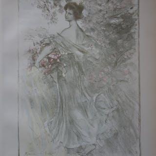 Maurice ELIOT - Printemps, Lithographie originale signée (1897)