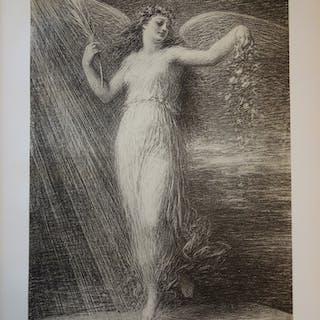 Henri Fantin-Latour - Immortalité, Lithographie originale  signée (1897)
