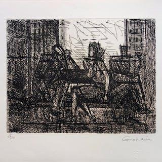 Marcel GROMAIRE : L'art de la conversation - Gravure originale signée