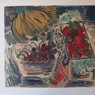 Raoul DUFY - Nature morte aux bananes, Lithographie signée