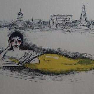 Kees VAN DONGEN - La Sirène de Paris, 1962, Lithographie originale