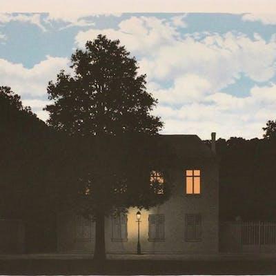 René MAGRITTE - L'Empire des lumières, 1961, Lithographie
