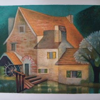Louis TOFFOLI - Le vieux moulin (de Gercy), Lithographie originale signée