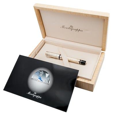 Monte Grappa - Stylo plume argent, série limitée de 500 pièces