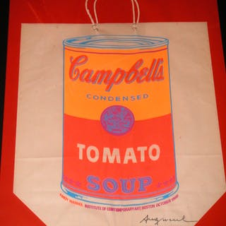 Andy WARHOL - « Campbell's Soup Shopping Bag », 1966, Sérigraphie