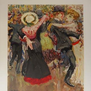 Kees VAN DONGEN (d'après) : Danse au Moulin de la Galette - Lithographie signée