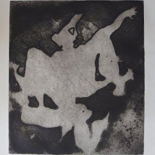Jean-Pierre JOUFFROY - Sabine au clair de lune, Gravure originale signée