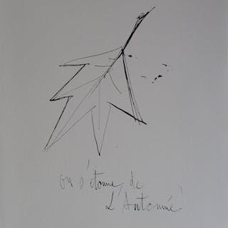 Bernard BUFFET (d'après) - On s'étonne de l'Automne, Gravure signée