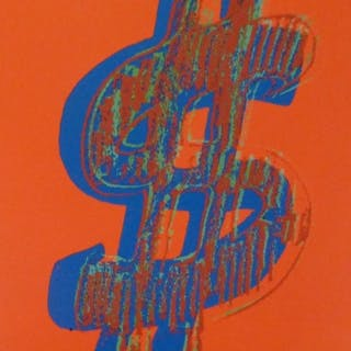 Andy WARHOL (d'après) - Dollar Sign Red, 1981, Lithographie