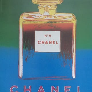 ANDY WARHOL (d'après) - Affiche Chanel No5 bleu