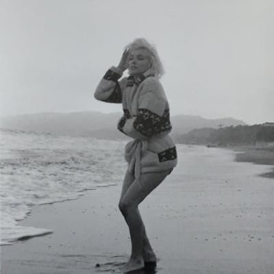 GEORGES BARRIS - Marilyn Monroe. Malibu beach, 1962