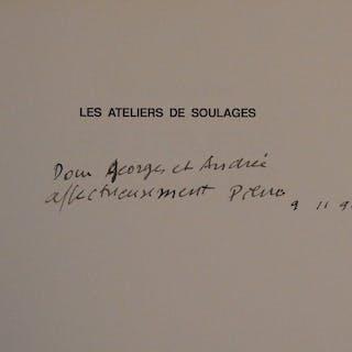 Pierre SOULAGES : Belle dédicace autographe à l'encre - Signée (1990)