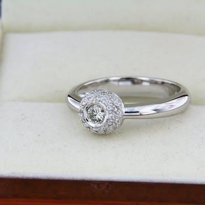 Bague joaillerie en Or blanc et Diamants