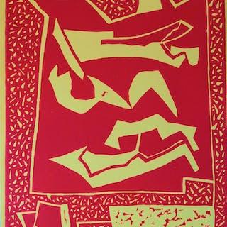 Alberto MAGNELLI : Trois nus couchés, gravure originale - 1959