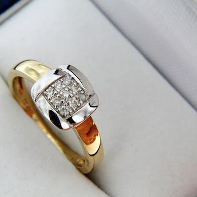 Bague OR Bicolore18 carats et Diamants