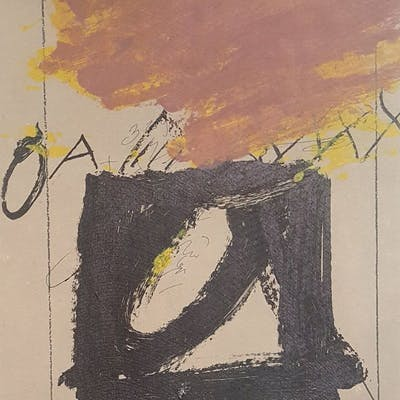 Antoni TAPIES - Lithographie originale signée