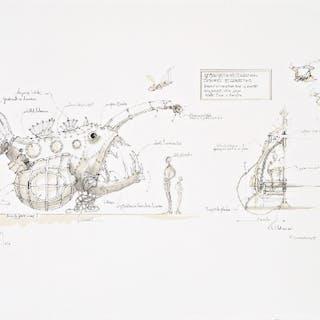 François DELAROZIERE - Luminaire des grands fonds, lithographie originale