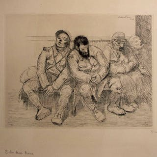 Théophile Alexandre STEINLEN - Entre deux trains, gravure