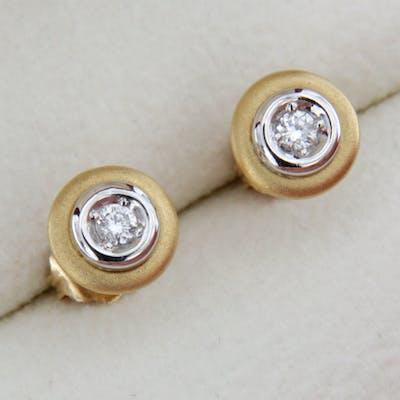 Boucles d'Oreille OR Bicolore et Diamants