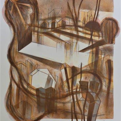 Gabriel MACOTELA - Ciudad y sombras, lithographie originale