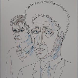 Jean MARAIS - Jean Cocteau et moi, Lithographie signée