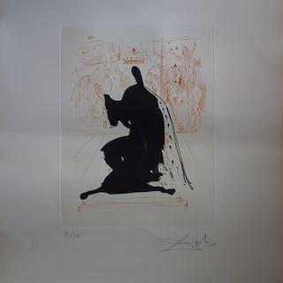 Salvador Dali : Le Roi d'Aragon, Gravure originale signée