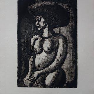 Georges Rouault : Belle jeune-femme Africaine - Gravure originale signée