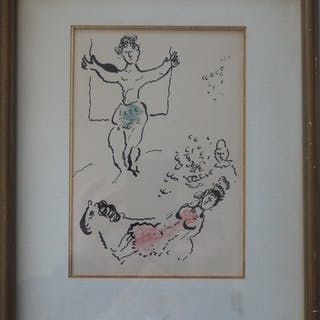Marc CHAGALL : Crucifixion, Lithographie originale