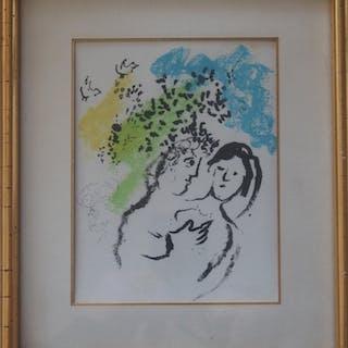 Marc CHAGALL : Amoureux, Lithographie originale
