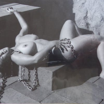 André de Dienes « Nude with chains» Tirage argentique de 1960