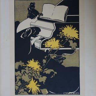 Miss Träumerei, Lithographie originale  (1896-1900)