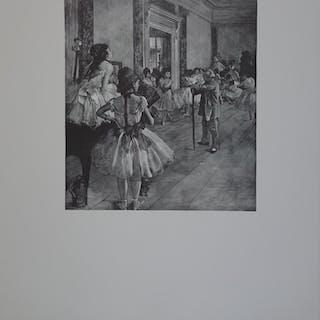 Edgar DEGAS (d'après) : La classe de Danse - Gravure originale