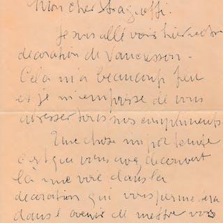 Georges BRAQUE Lettre autographe signée