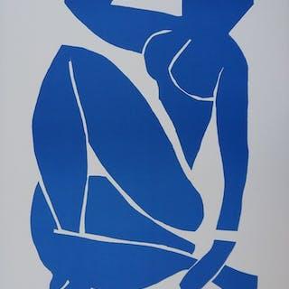 Henri MATISSE (d'après) (1869-1954) - Nu bleu au repos, Lithographi