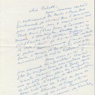 BRASSAÏ - lettre autographe signée concernant une exposition aux USA