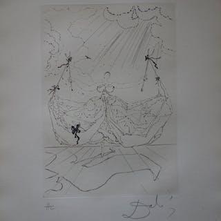 Salvador Dali : La danseuse aux béquilles - Gravure originale signée
